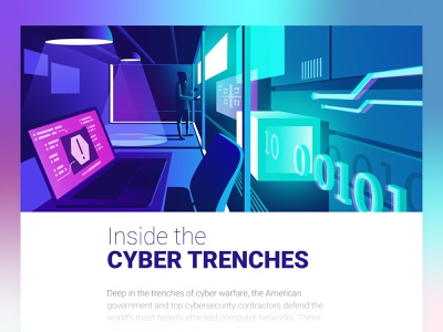 Cyber Security dmit characters 3d vector screen cyber security article illustration protection internet data interior hacker cyberspace