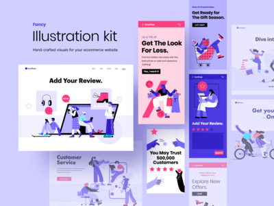 Fancy ecommerce illustrations