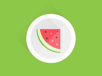 Watermelon watermelon illustration illustrator flat