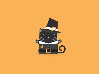 Thanksgiving Cat illustrator thanksgiving cat illustration