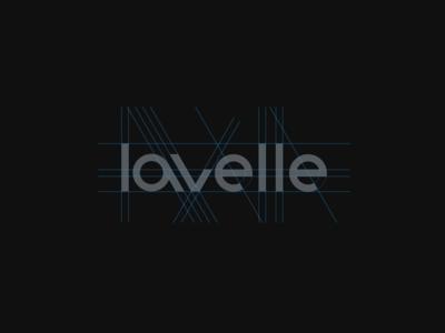 Lavelle wordmark geometric grid bike wordmark logomark typography logo