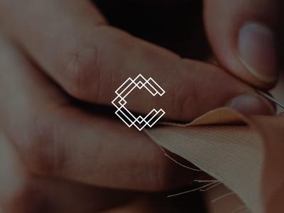 Clayton Fabrics lines minimalistic fabric c logo mark branding logo