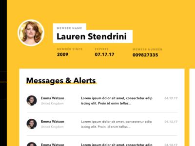 Dashboard Concept web minimalistic flat profile blue black yellow website visual design ux ui dashboard