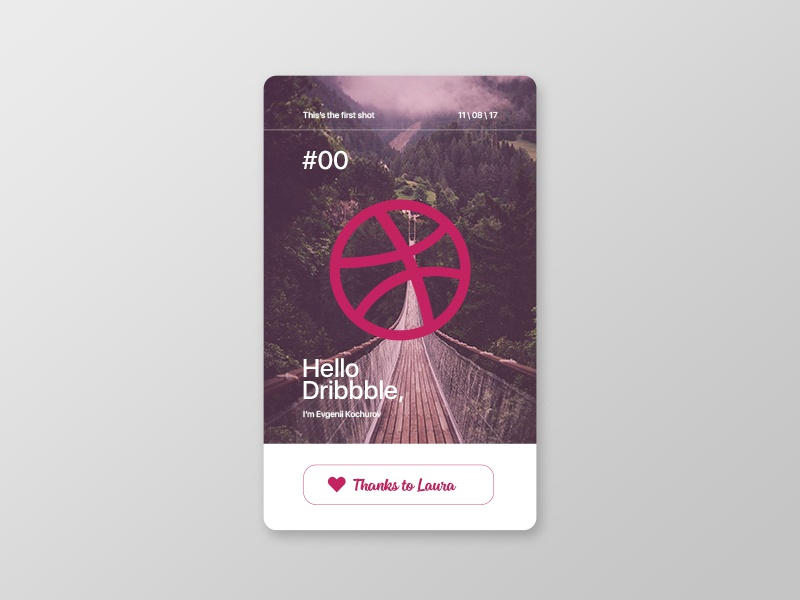Hello Dribbble thanks debut first graphic design hello