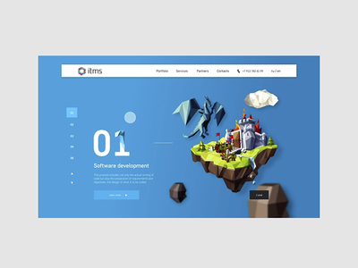 ITMS website, desktop ux typography illustration brand ui vector after effects webdesign graphic interface interaction desktop animation web grid digital design