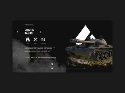 Unit's widget typography interface grid ui after effects webdesign interaction animation wargaming digital