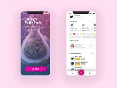 Riding App xs xr ux ui redesign kit x iphone ios design app