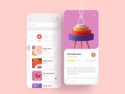 Decoration Style white clean ui ui design animation uiux uitrends uidesign mobile app interactive design inspiration illustration creative clean ui interior design decoration app 3d illustration 3d art 3d minimalism app design