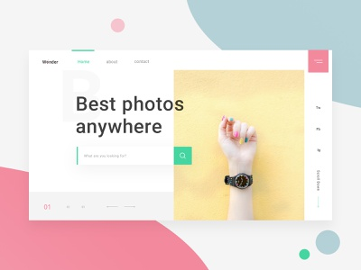 Photo Sharing Landing Page design social media web design website landing page ui gallery photo sharing clean ui white ui design minimal