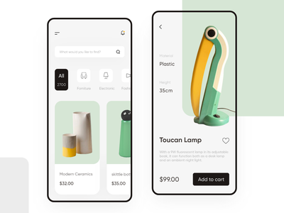 Shopping App ui interactive design light gallery photo shopping web webdesign application design trends inspiration creative design minimalist white clean ui ios app clean ui uiux ui design minimal app design