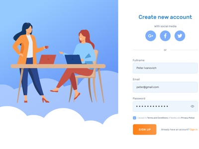 Sign Up / Sign in form vector illustration design form sign up sign in registration login create new create account form design webdesign ux ui