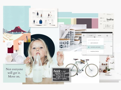 NFE Mood Boards web branding typography design