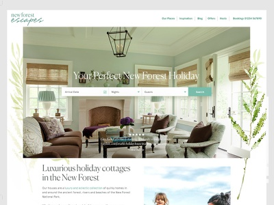 Home Page web ux typography