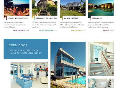 Unique Home Stays travel webdesign ui luxury brand luxury typography