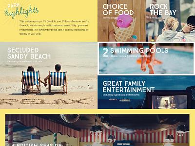 Away Resorts landing page 2014 webdesign design web