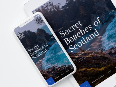 The Best Beaches - Mobile luxury brand vacation travel ui ux responsive web