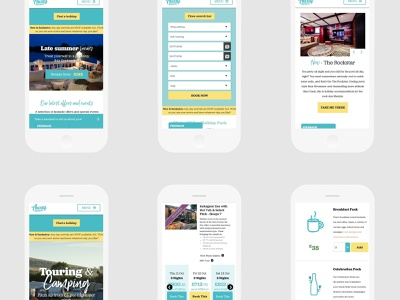 Mobile Screens for Away Resorts web holiday vacation travel ux ui interaction design mobile responsive