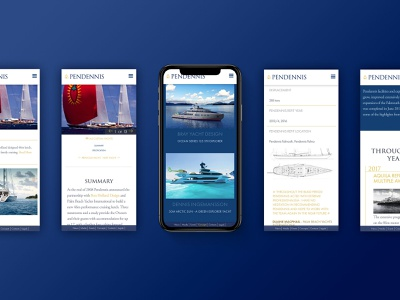 Pendennis Mobile Screens mobile ui ux web luxury design luxury responsive