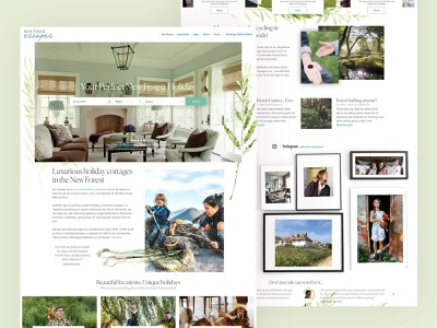 New Forest Escapes  - Detail ui ux luxury brand design webdesign luxury travel web