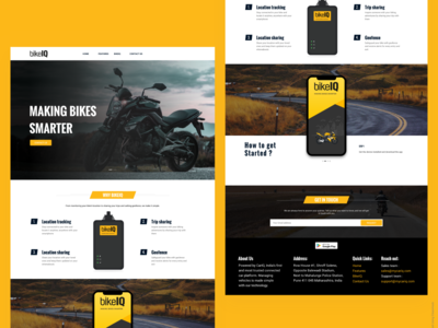 BikeIQ Website design
