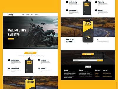 BikeIQ Website design responsive design invite free illustration product ux ui website design