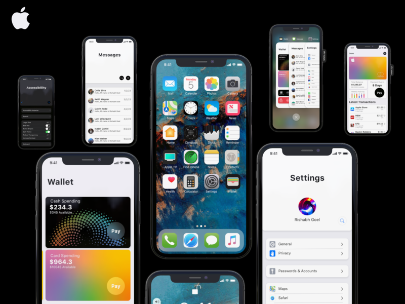 IOS 13 Concept with video concept video design typography animation new invite free ux ui ios apple