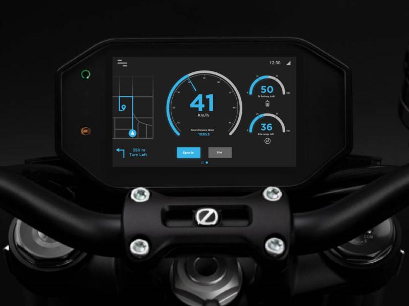 Electric Motorcycle Dashboard apple ux uiux ui app design app electric bike electric vehicle display bike dashboad motorcycle motorbike electric ev