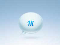 """Hi"" Bubble Icon"