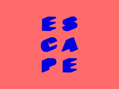 Escape festival logo identity logo graphic design