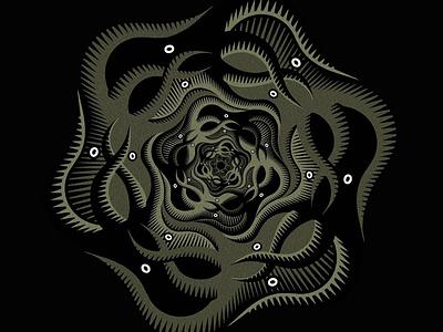 Kraken symmetry deep sea tessellation kraken