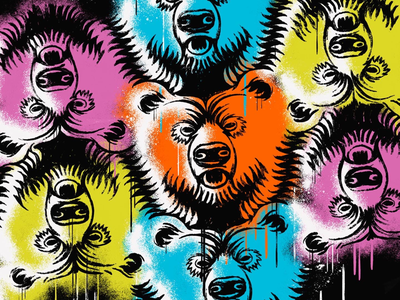 Tessellation Bears keith haring adobe bear tessellation