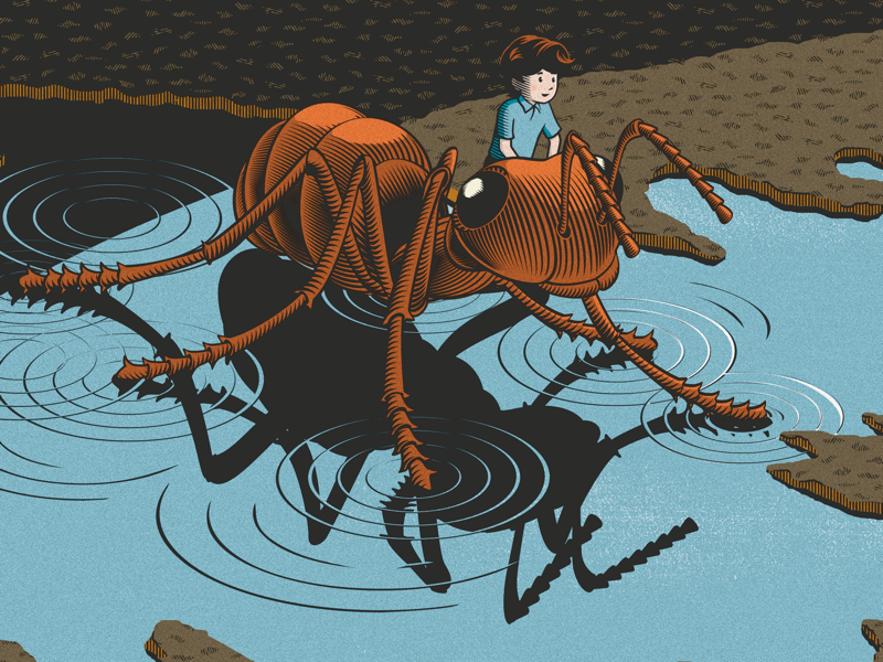 Illustration for a children book about the life of M . C. Escher m. c. escher children book illustration
