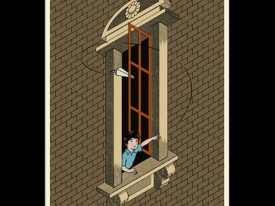 Inside out illusion m. c. escher illusion illustration