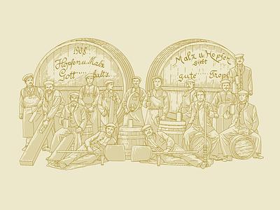 Craft beer vintage craft beer illustration vector