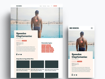Interface Design for sexual education web sexeducation webdesign responsive ui ux interface