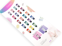 Colourful Catalog Page
