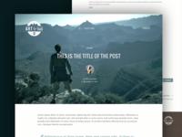 Blog post page design
