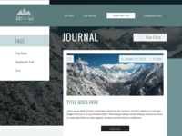 Trip Journal Design