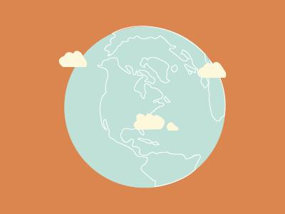 The World! world globe illustration