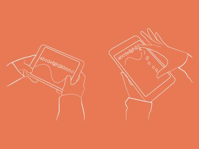 Interactive eBooks illustration ipad ebooks interaction lines