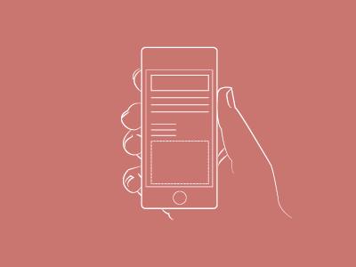 iPhone Illustration illustration iphone lines