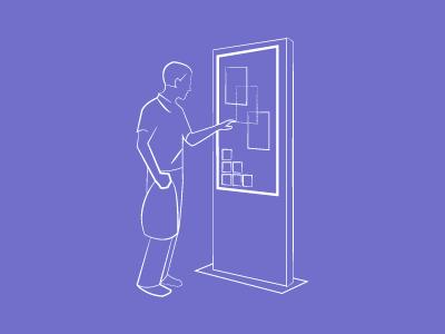 Kiosk Illustration illustration lines kiosk interactive