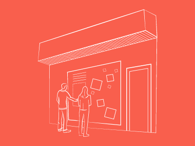 Interactive Storefront illustration interactive storefront lines