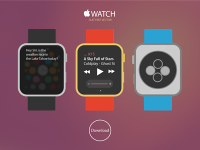 New Apple WATCH Free Vector Download
