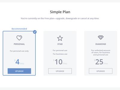 Subscription Plans diamond star simple select plan subscription flat