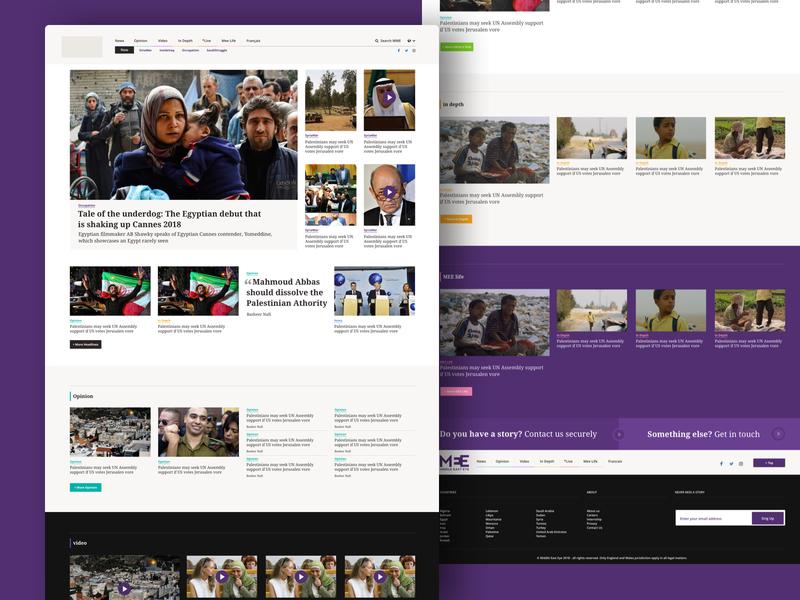 News Website sketch app layout webdesign news flat