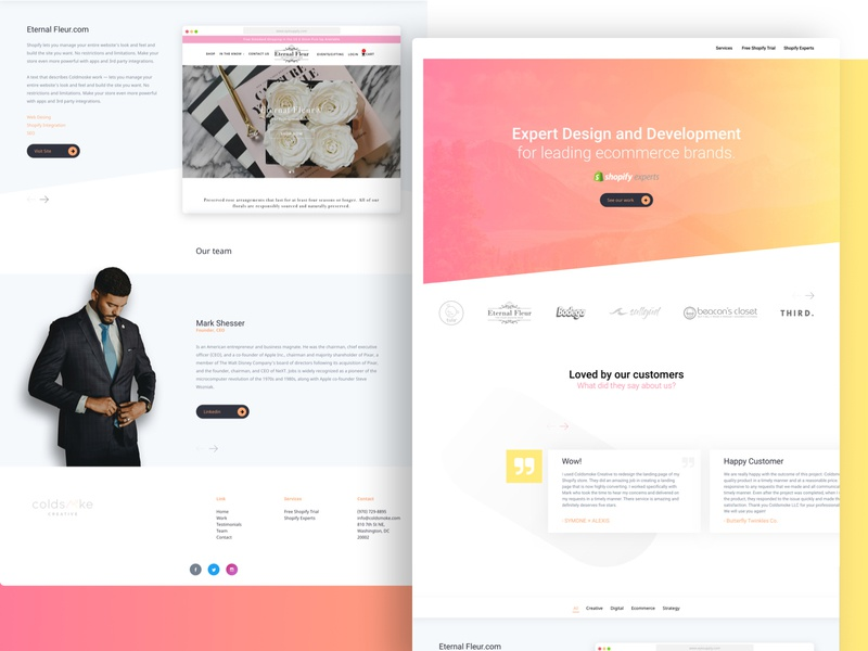 Company Landing Page sketch landing page design flat