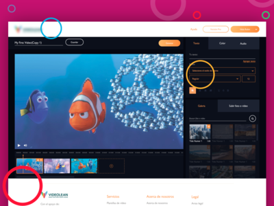 Simple Video Editor dashboard movie video flat online video editor