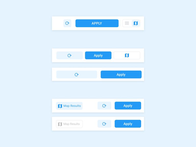 Buttons Group design navigation bar filtes nav flat