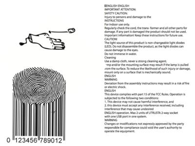 Backside of the THUMB manual. (3)